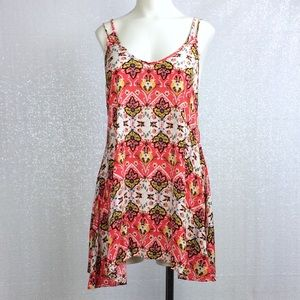 See You Monday Floral Boho Tunic Tank sz Small